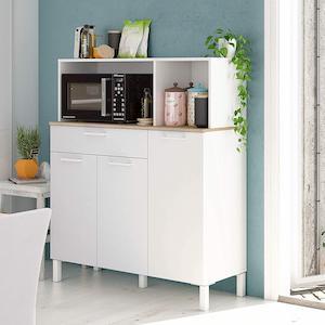 estantería blanca moderna