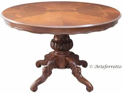 mesa de comedor redonda y extensible