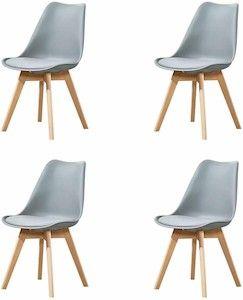sillas de madera tapizadas modernas