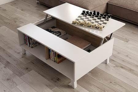mesa de centro de diseño elevable