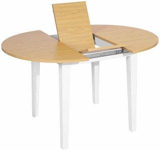 mesa de comedor moderna redonda extensible