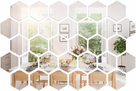 comprar espejos hexagonales