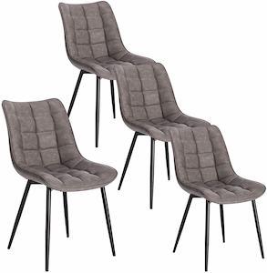sillas de comedor tapizadas modernas